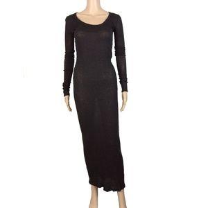All Saints marbled long sleeve thin maxi dress